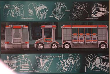 Проект транспортного средства для выставочных комплексов и деловых центров