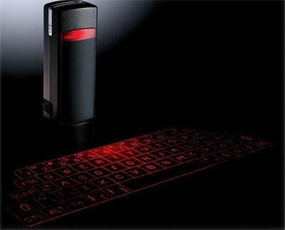 первая серийная виртуальная клавиатура
